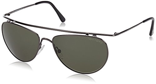 Tom Ford FT0191 Aviator Sonnenbrille, Unprincipled Metal Frame / Dark Grey Lens