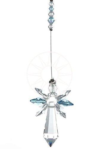 Swarovski grande cristallo angelo custode pietra natale acciappasole acquamarina - marzo