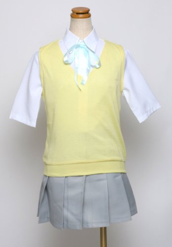 On K Yui Kostüm - Sunkee K-ON Cosplay Hirasawa Yui uniform Sommerkleidung Kostüm, Größe XL( Alle Größe Sind Wie Beschreibung Gesagt, überprüfen Sie Bitte Die Größentabelle Vor Der Bestellung )