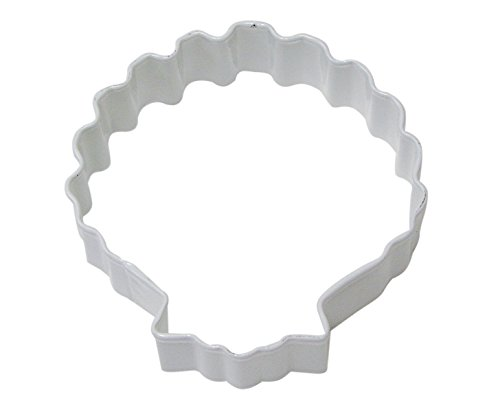 Sea Shell Poly-Resin Coated Cookie Cutter White Poly White Shell