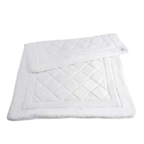 RIBECO Faserdecke, weiche Micforfaser, Ganzjahresbett, allergikergeignet, pflegeleicht, sehr gut waschbar