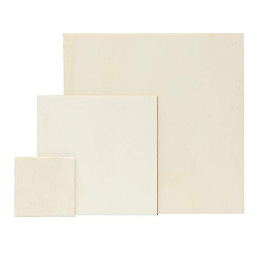 Sperrholz Zuschnitte - Quadrate - Größenauswahl - Pappel 3mm, Größe:Quadrat 12x12cm (Kreis 12x12 Holz)