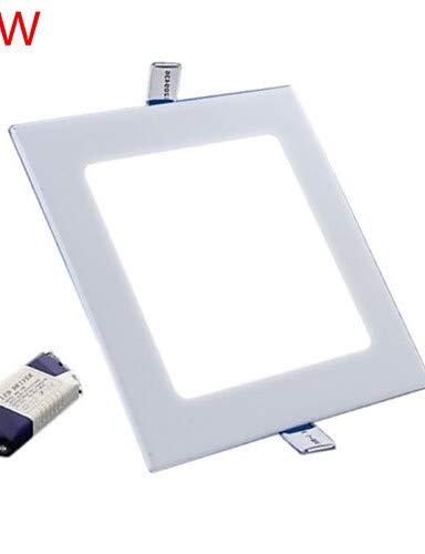 LPZSQ 9W 800LM Platz Deckenleuchte LED-Flächenleuchten LED Einbauleuchte (85-265V), warmweiß -