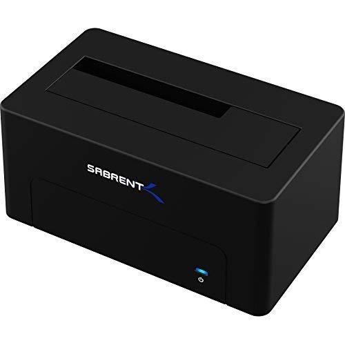 Sabrent USB 3.1-zu-SATA-Dockingstation für externe 2,5 oder 3,5-Zoll-HDD, SSD Festplatten
