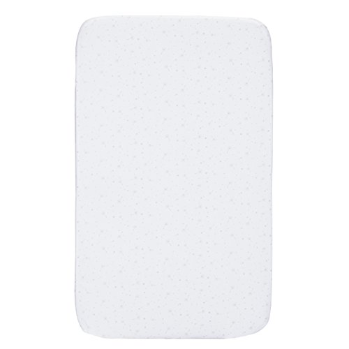 Chicco - Set 2 sábanas bajeras Delicacy  color Blanco (delicadeza gris)