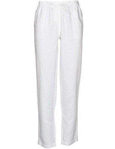 Basefield Damen Leinenhose-42 (229005254) (Hose Weiß Leinen Womens)