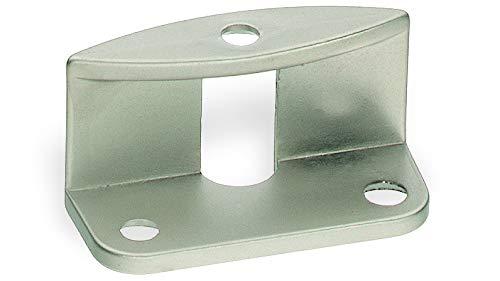 Griffadapter für Faltschiebetüren für 20 mm Türstärken, oval vernickelt matt