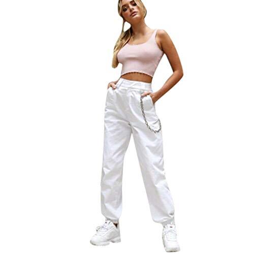 Damen Freizeithose Mode Hosen Hosen,Lässige Jogginghose mit Sportswear-Unterteilen Militärkampf Casual Jogger Pants Trainingsanzug Unterteile - Twill Womens Cargo Pocket Hosen