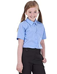 71abfcd339 BHS Girls 2 Pack Regular Fit Non Iron Short Sleeve School Shirt