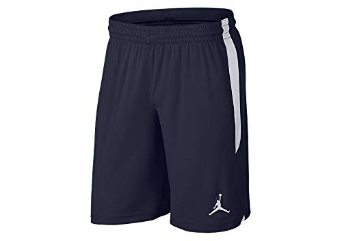 Nike-basketball-shorts-blau (Nike Herren 23 Alpha Dry Knit Shorts, College Navy/White, S)