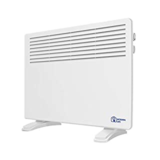 fam famgizon 1200W Low Energy Panel Heater Radiator Wall Mounted Convector Heaters with Thermostat - IP24 Rated for Safety Use in Bathroom