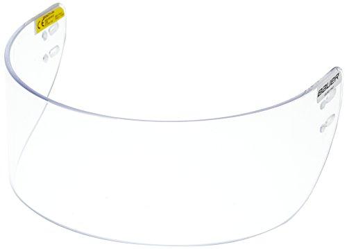 BAUER - Euro Pro Visor Erwachsenen Visier Eishockeyhelm I Sichtschutz für Eishockeyhelme I Kunstoff-Visier für Eishockeyhelme I Klarsicht-Visier I Hohe Kompatibilität I Straight - One Size