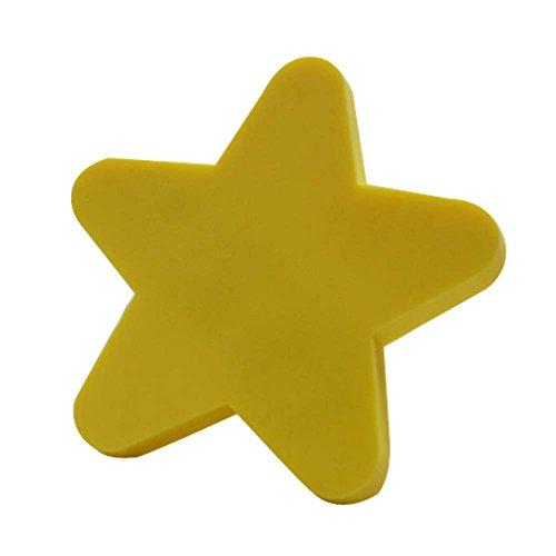 Preisvergleich Produktbild Satz von 2 schöne Pentagramm Schublade Griffe Kinder Cartoon Türgriffe gelb