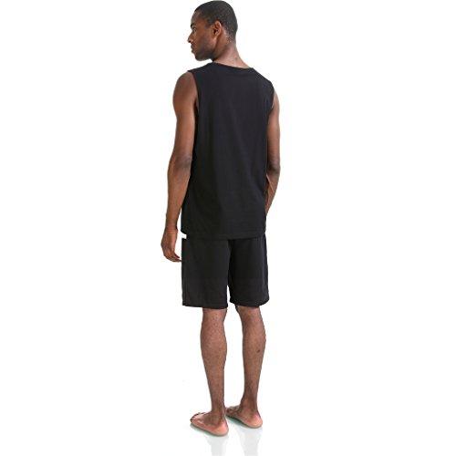 Pizoff Herren Hip Hop High Street Fashion Lang geschnittenes Trägershirt P3254-black