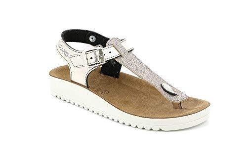 GRUNLAND SA1865 GREK Sandalo Donna S. Platino 39