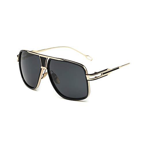 WJFDSGYG Männer Sonnenbrillen Designer Frauen Flat Top Sonnenbrille Square Point Male Mirror Five Style Female Uv400