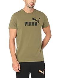 Puma Men's Plain Regular Fit T-Shirt