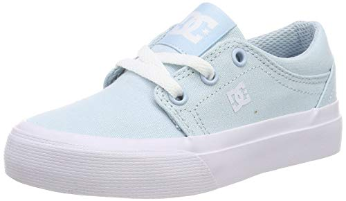 DC Shoes Trase TX, Scarpe da Skateboard Bambina, Blu (Powder Blue PWD), 32 EU