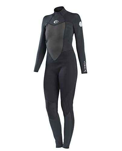 RIP CURL WSM4MW Omega Wmn,5/3 mm Steamer Back Zip, Neoprenanzug,Black,M/170cm