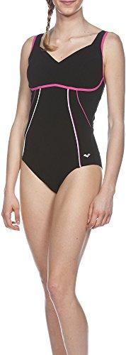 Costume intero da donna Arena body lift Mary C-Cup Nero black/fresia rose/White 42