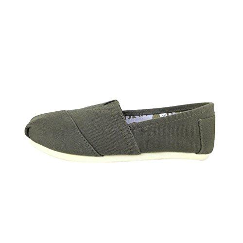 Dooxi Unisex-Erwachsene Freizeit Loafers Comfort Espadrilles Mode Einfarbig Slip on Flach Freizeitschuhe Grün 40(25cm) (Grün Freizeit)