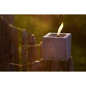 Beske-Betonfeuer Geschenkpaket | Betonfeuer mit Dauerdocht 10x10x10 inkl. ausführlicher Anleitung | Weihnachten Dauerkerze Tischfeuer Gartenfackel Outdoorkerze Kerze