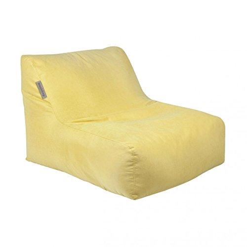 Pushbag Sitzsack Chair aus Soft (Polyester), 90x120x35cm, 450l, honey