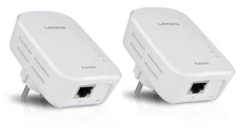 LINKSYS PowerLine PLEK500 - Kit di 2 adattatori CPL Homeplug AV2 500 Mbps