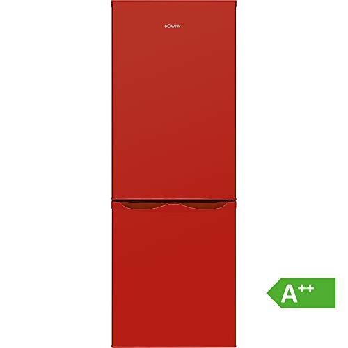 Bomann KG 320.1 Kühl-Gefrier-Kombination (Gefrierteil unten) / A++ / 143 cm / 160 kWh/Jahr / 122 L Kühlteil / 43 Gefrierteil/Abtauautomatik / Rot