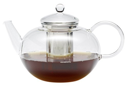 Trendglas Jena Teekanne Miko im klassischen Design mit Edelstahlsieb, 2,0 l 2l T-pot