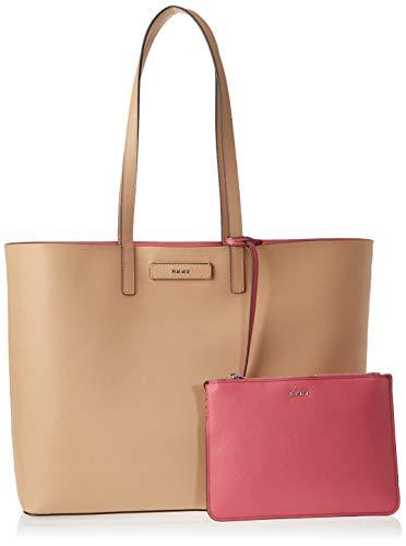 67f7b8f435a2 DKNY Women's Brayden Large Reversible Tote Bag - Latte/Pink