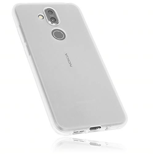 mumbi Hülle kompatibel mit Nokia 8.1 Handy Case Handyhülle, transparent weiss