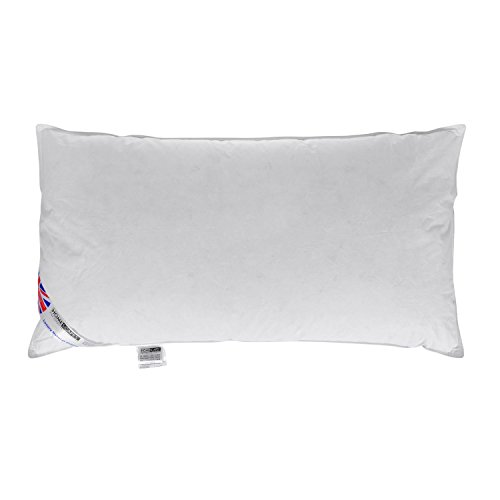 "Homescapes - Duck Feather & Down 3 Ft Pillow - 19"" x 36"" - King Size - Luxury Hotel Range (Single)"
