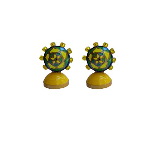 Kaagitham paper quilling handmade buddha inspired party wear jhumka earrings  available at amazon for Rs.300