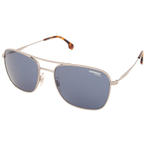 Carrera Unisex-Erwachsene 130/S KU 6LB Sonnenbrille, Grau (Ruthenium/Bluee Avio), 58