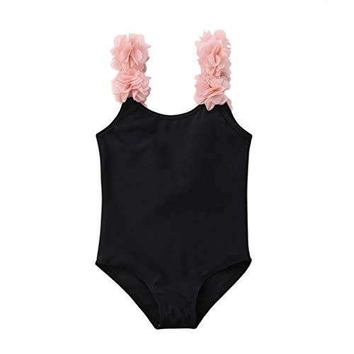 Badeanzug MäDchen Weiß Waselia Badeanzug Teenager MäDchen Ohne Push Up RüSchen, Kleinkind-Baby Scherzt MäDchen-Blumenbadebekleidungs-Badeanzug-Strandspielanzug-Kleidung