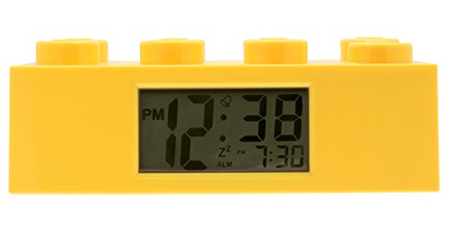 LEGO 9002144 Yellow Brick Kids Light Up Alarm Clock | yelow | plastic | 2.75 inches tall | LCD display | boy girl | official