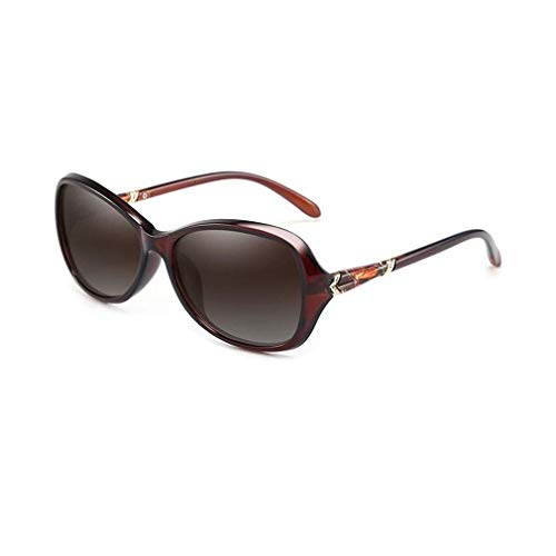 JOLLY Damensonnenbrillen Klassische Designer-Sonnenbrillen-Art und Weise (Farbe : Tea Color)