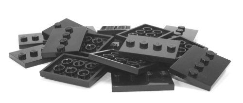 4x4 Base (Lego Parts: Tile, Modified 3 x 4 with 4 Studs in Center - Minifigure Display Base Collector Series (Black) by LEGO)