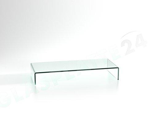 DURATABLE® TV Glasaufsatz Glastisch LCD Tisch Aufsatz Monitorerhöhung Fernsehtisch Glas Schrankaufsatz Aufsatz Fernseher Erhöhung klarglas 700mm x 300mm x 130mm