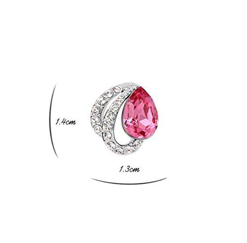Erica Mousseux autrichien strass boucles d'oreilles pour les femmes filles rose red