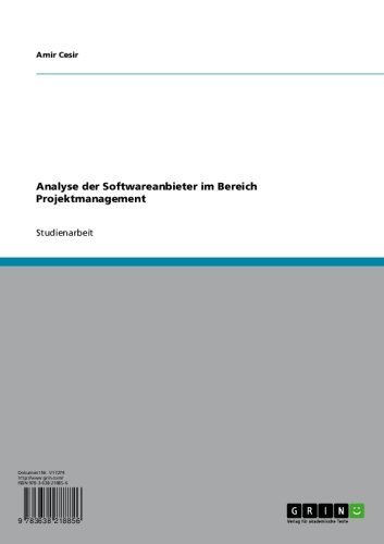 Analyse der Softwareanbieter im Bereich Projektmanagement (German Edition)