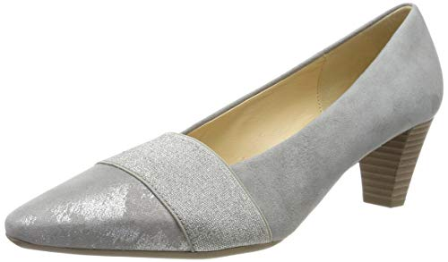 Gabor Shoes Damen Basic Pumps, Grau 19, 38.5 EU -