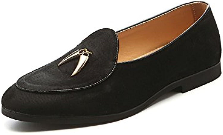 Mocasines para Caminar Zapatos de Guisantes Casuales de Gamuza de los Hombres de Verano Peppers Tassel Zapatos...