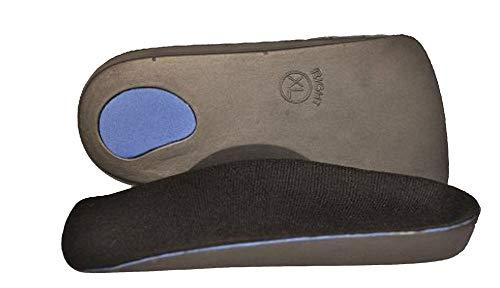 SturdyFoot 3/4 Länge Orthesen Einlagen Senkfußeinlagen Ferse Pads Verhindert Verschiebung, Plattfüße, Senkfüße, Mittelfuß und Pronation Ferse Schmerzen - Marine, X-Large -