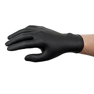 Professionelle schwarze Handschuhe Nitril Größe L 100Paar