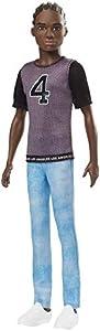 Mattel Barbie Fashionista-Muñeco Ken afroamericano con Camiseta Los Ángeles, Multicolor GDV13