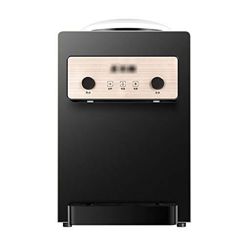 Wohnen Kühler & Wasserspender Wasserkühler Bürowasserbereiter Tischwasserspender eiswarm Tischflaschenwasser (Color : Black, Size : 24.8 * 28.6 * 40cm)