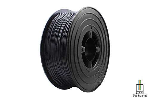 OWL-Filament Premium 3D PLA Filament 1kg 1,75mm Made in Germany (Schwarz)