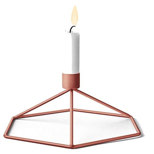 DEER HOUSE Kerzenhalter im nordischen Stil von Hirschhaus aus Metall, verschleißfest, Metall, Bronze, Einheitsgröße -